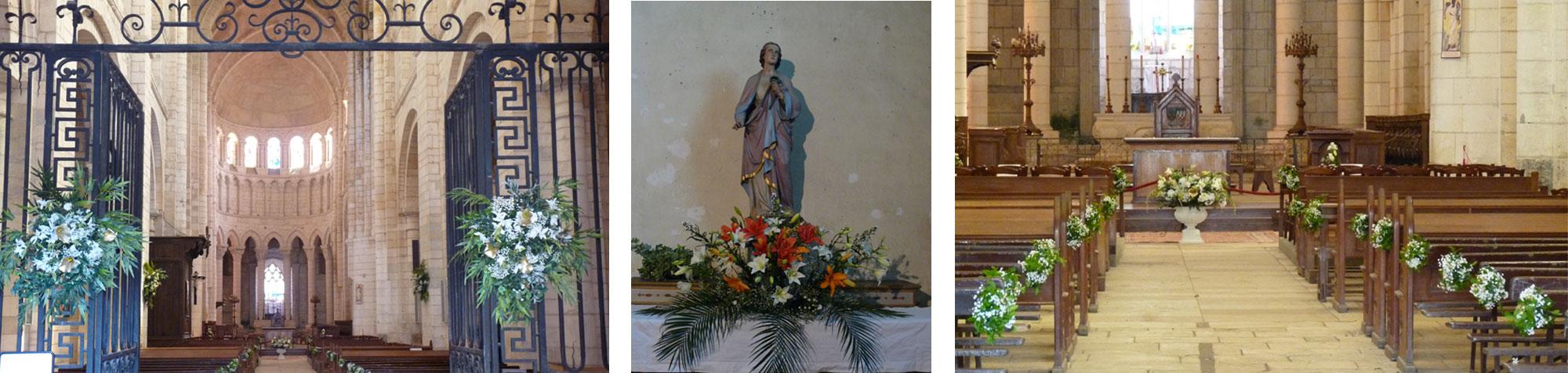 décoration florale d'église